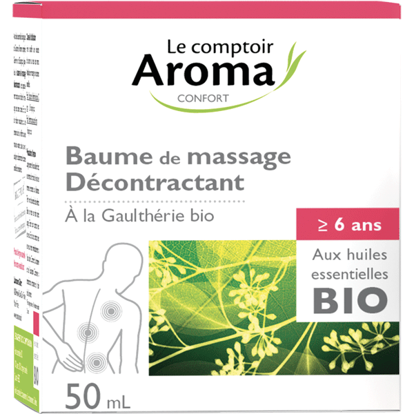 Baume de massage décontractant